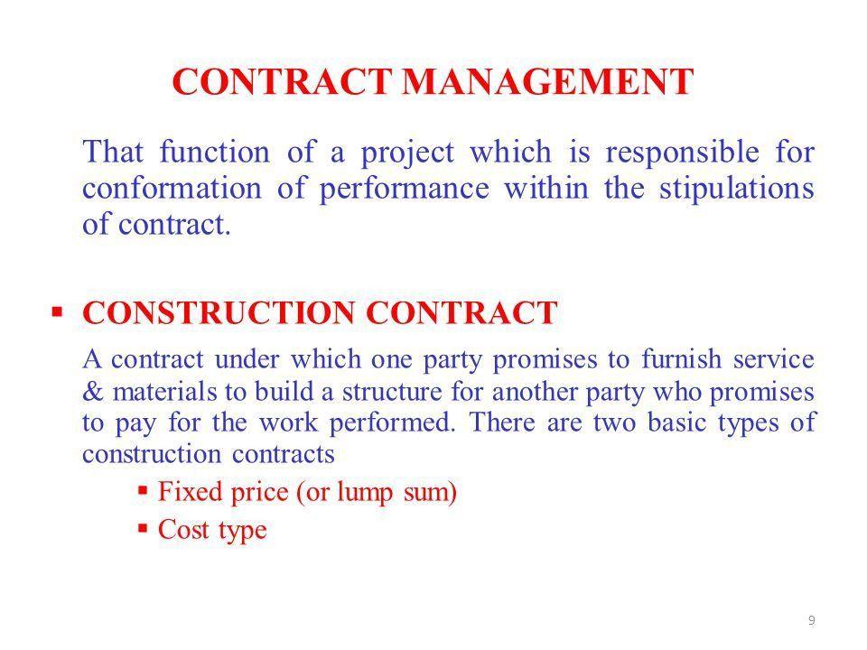 CONSTRUCTION CONTRACT MANAGEMENT CAPITAL DEVELOPMENT AUTHORITHY ...