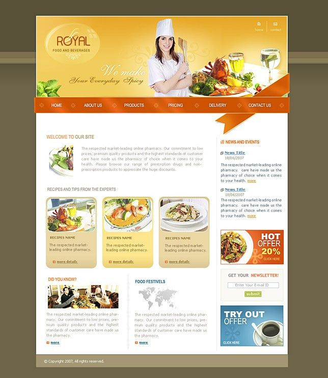 Ebay templates generator for food websites