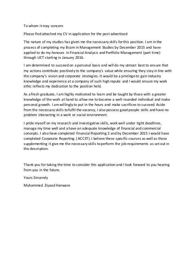 Cover Letter (FA) - MZ Hanware