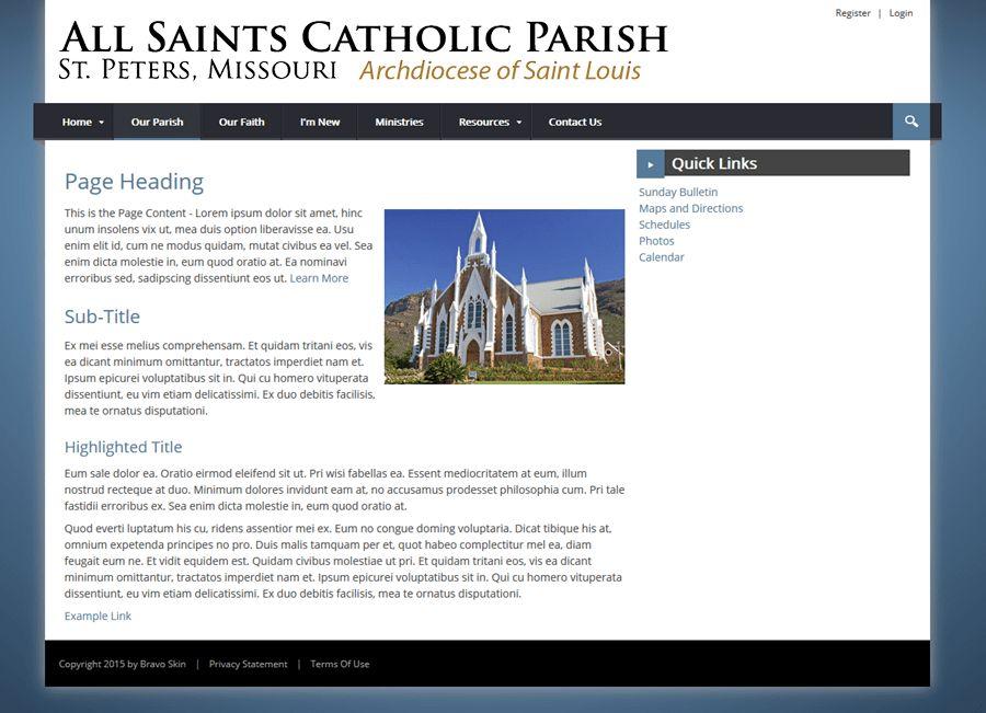 Catholic Church Website Templates - Bravo