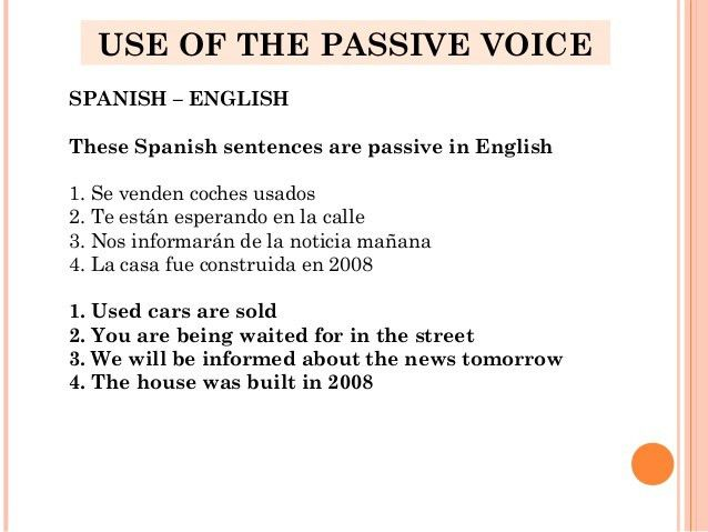 Passive voice - identifying the agent when using the 'se' form ...