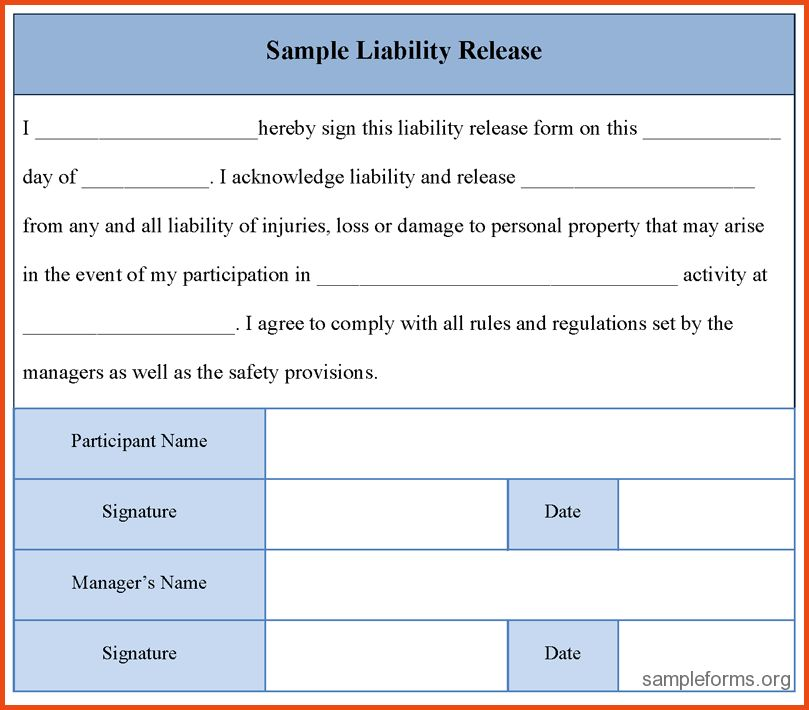 Liability Waiver Form.liability Release Form Sample 490.png ...