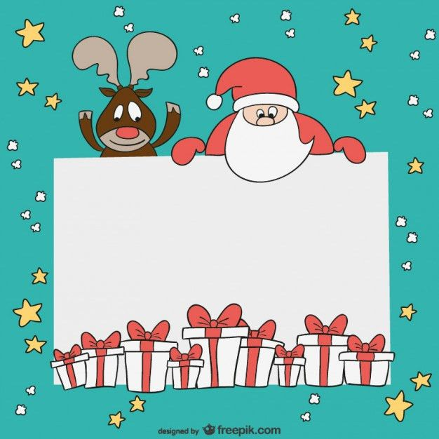 Christmas card template Vector | Free Download