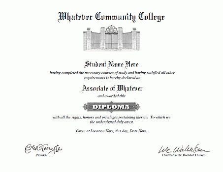 Associate degree templates
