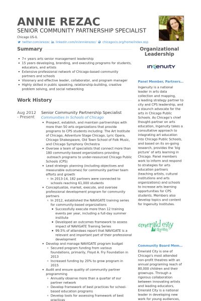 Specialist Resume samples - VisualCV resume samples database