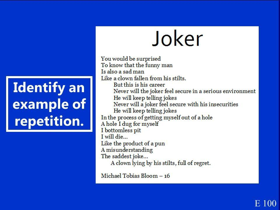 Jeopardy Figures of Speech: Definitions Literary Terms ...