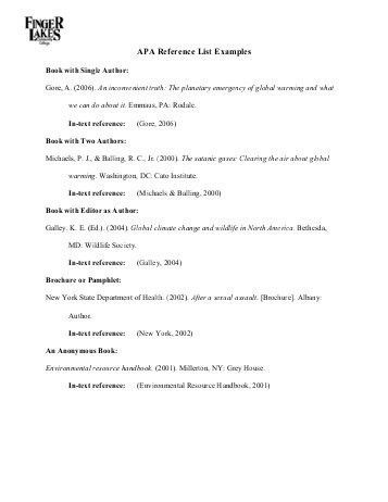 Reference List Sample. Sample Resume Reference Template Cite Apa ...