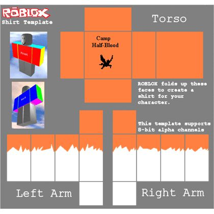 Camp Half-Blood T-Shirt(tatered) Template - ROBLOX