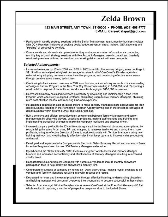 sample resume sales executive resume sample 16 senior sales