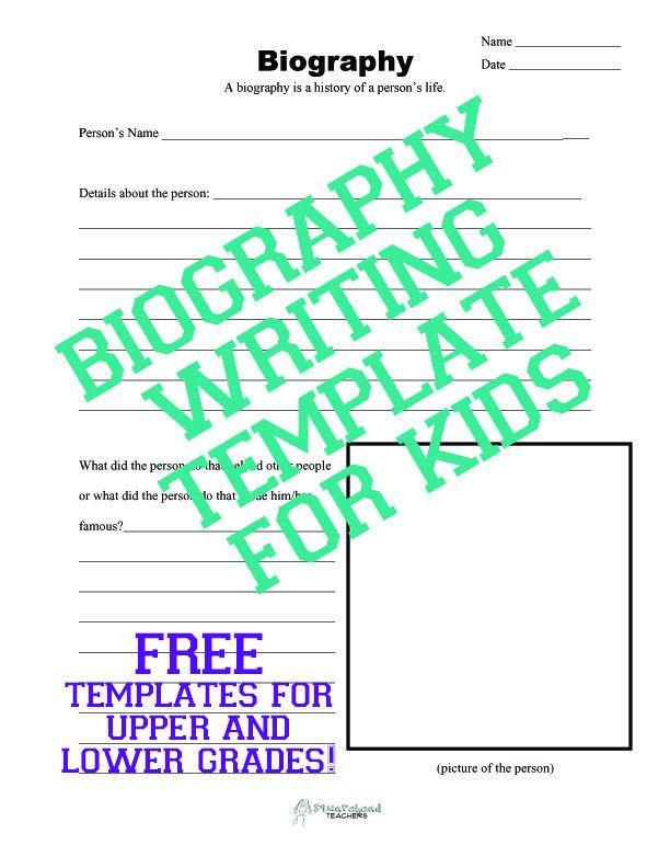 Biography Writing Template for Kids | Squarehead Teachers