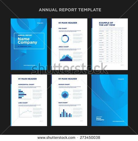 Modern Annual Report Template Cover Design Stock Vector 273450032 ...