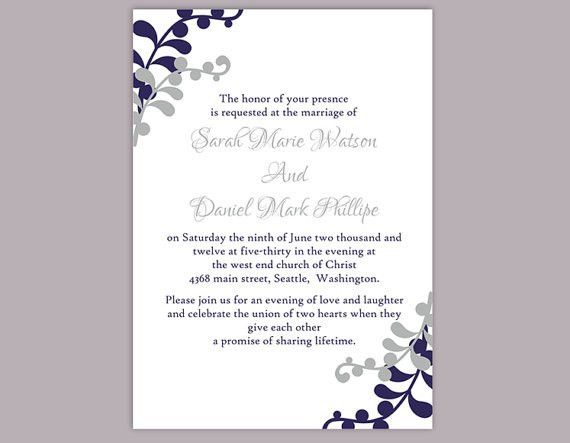 Word Wedding Invitation Templates | wblqual.com