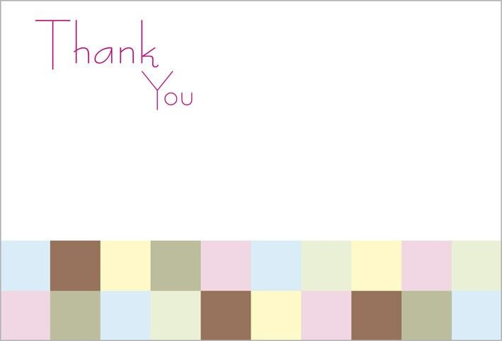 Thank You Note Template. Neopolitan Wedding Stationery Thank You ...