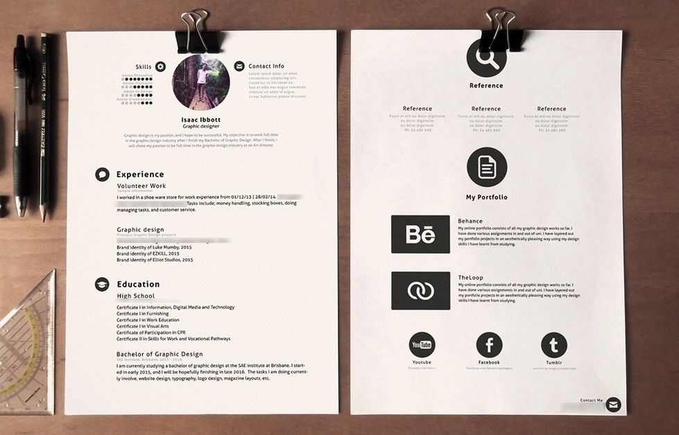 Free Clean Stylish Resume Template PSD - TitanUI