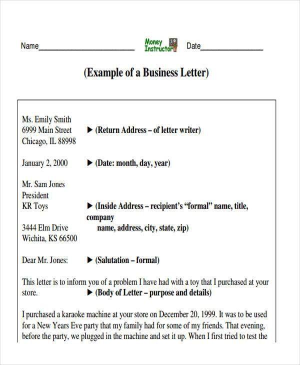43+ Business Letter Formats | Free & Premium Templates