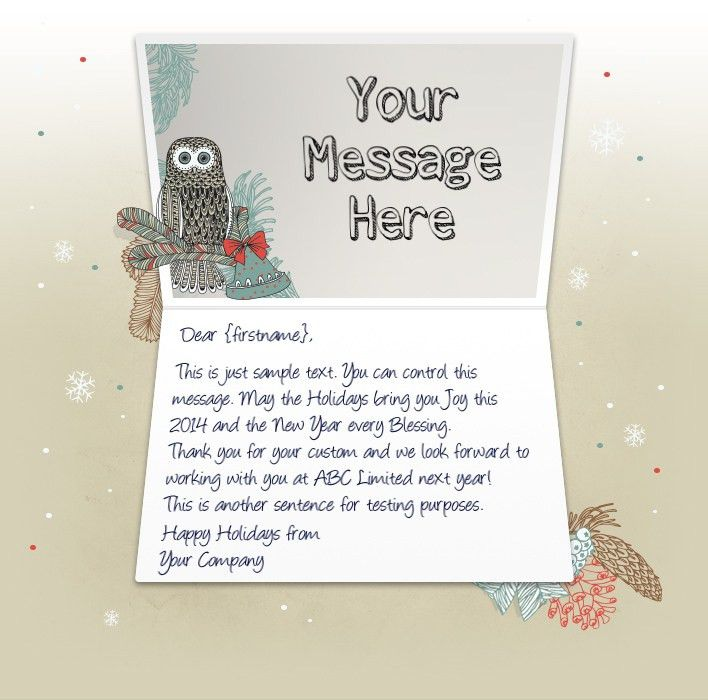 Christmas eCards for Business | Electronic Xmas Holiday Cards