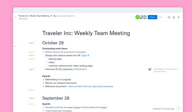 How Dropbox Paper helps make meetings more efficient and effective ...