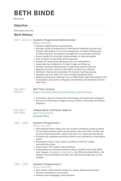 100 Unix Resume Sample Of Resumes 5 Uxhandy ComComputer – System Programmer Job Description