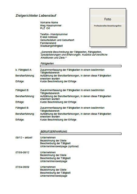German CV Template | Lebenslauf | Joblers