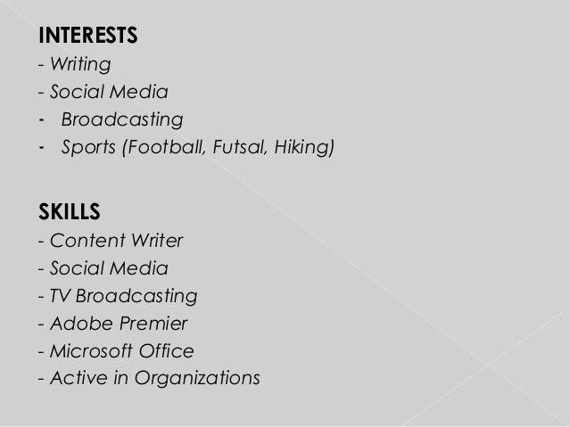 Resume: Social Media Officer