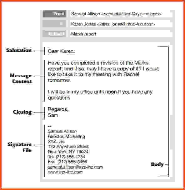 Professional Email Template. Journalism Students Can Find This ...