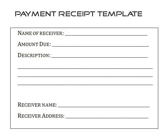 Child Care Receipt Template  Payment Received Receipt