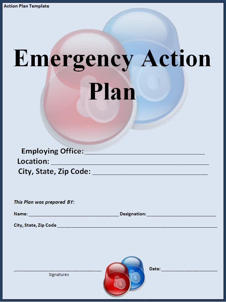 Emergency Action Plan Template Archives - Fine Templates