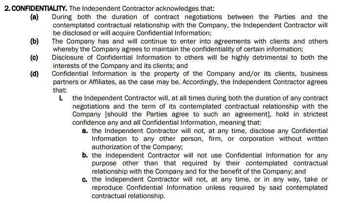Use a NDA with Independent Contractor Agreements - EveryNDA