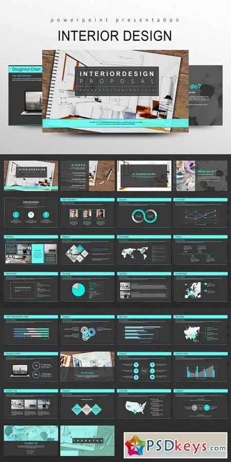 Interior Design PowerPoint Templates 510930 » Free Download ...