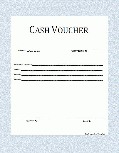 Cash Voucher Template | Free Printable Word Templates,