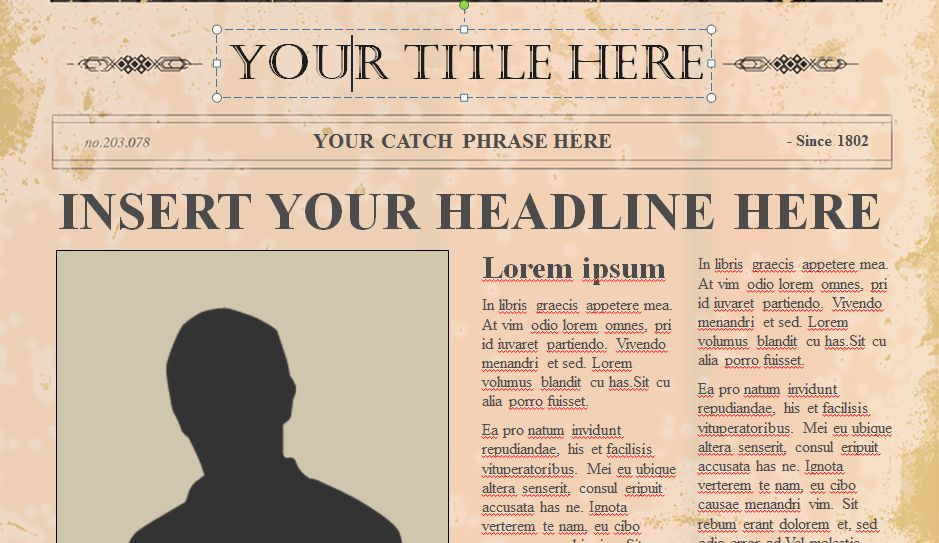 Best Photos of Editable Old News Bulletin - Old Newspaper Template ...