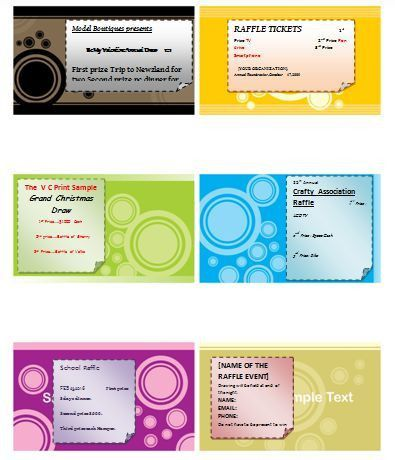 Sample Raffle Ticket Templates | Raffle Ticket Templates for Word ...