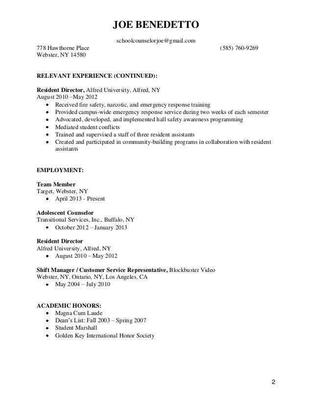 2 Page Resumes Formats - Contegri.com