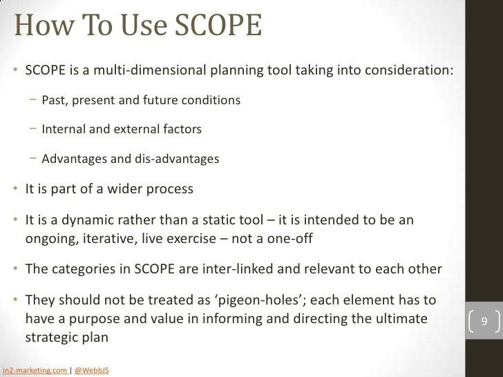 The SCOPE Planning Model