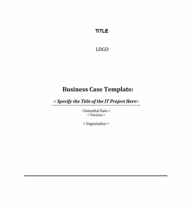 Best It Project Business Case Template Photos - Best Resume ...