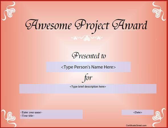 12 Certificate Template