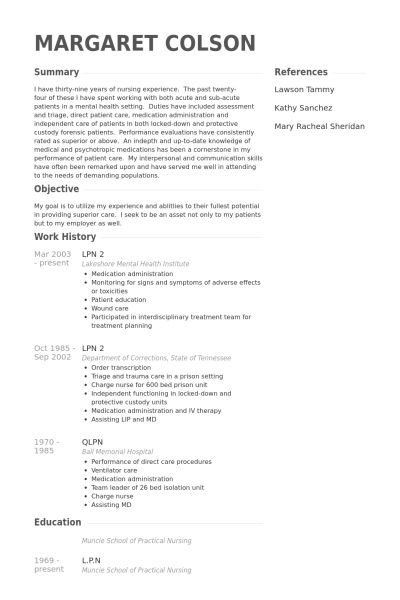 Pretentious Design Ideas Lpn Resume 5 Lpn Resume Samples - Resume ...