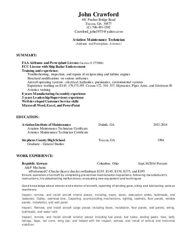 John Crawford - resume - 2014 dated