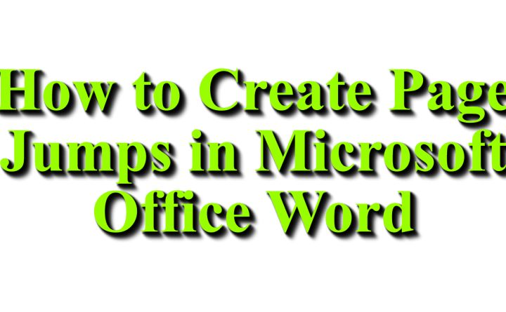 How to Create Page Jumps in Microsoft Office Word - Network Bees