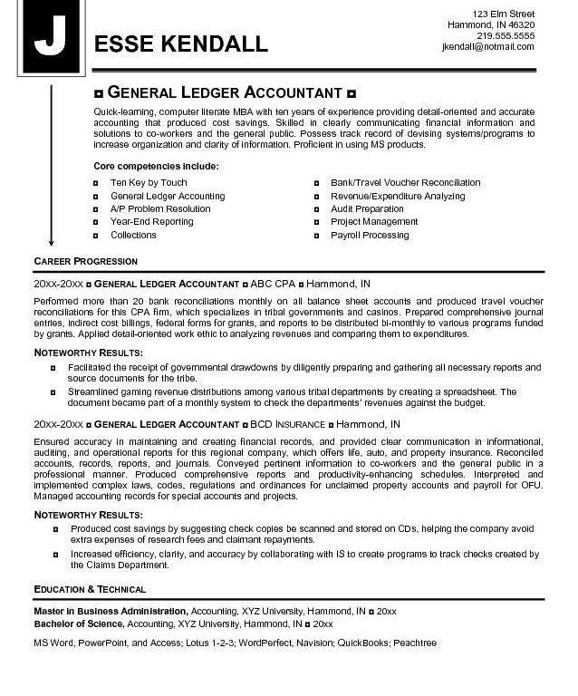 Accounting Resumes Samples | Samples.csat.co