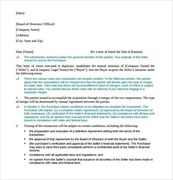 Business Letter of Intent – 11+ Free Word, PDF Format Download ...