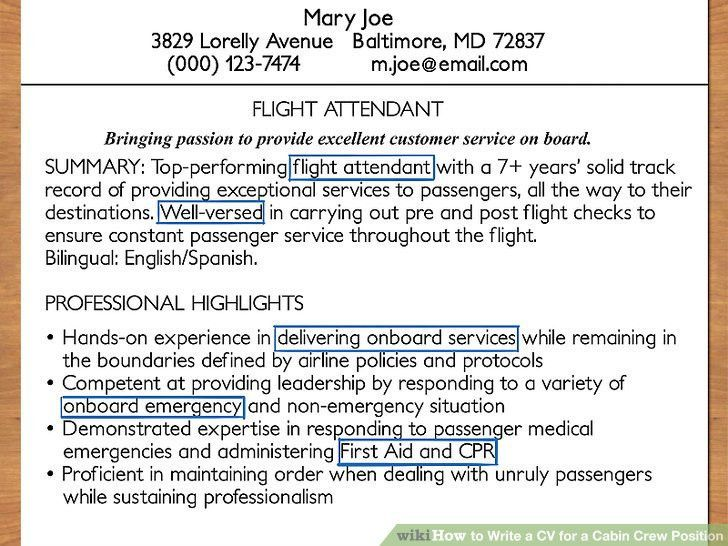 Remarkable Cabin Crew Job Description Resume 47 In Resume Cover ...