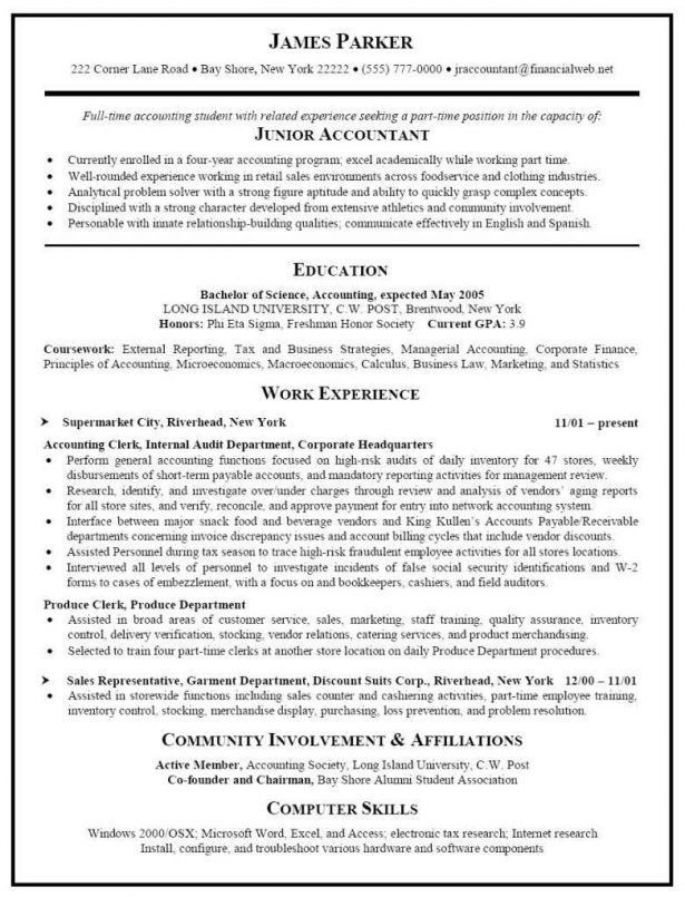 Resume : Summary For Resume Examples Student Food Handler Resume ...