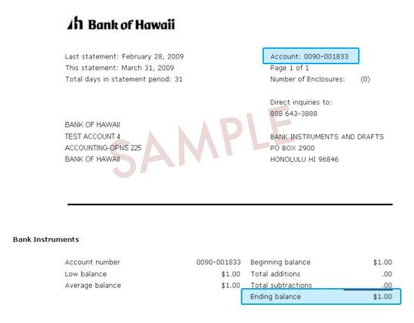 Bank of Hawaii | e-Bankoh Application