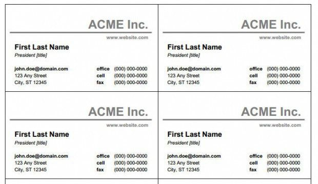 Microsoft Business Card Template] Business Card Template ...