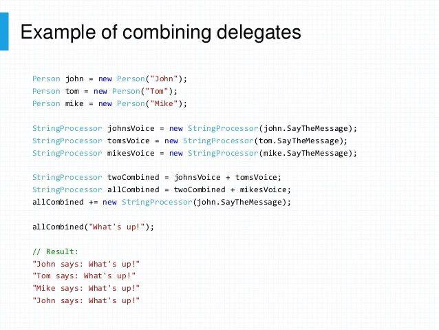 Evolution of C# delegates
