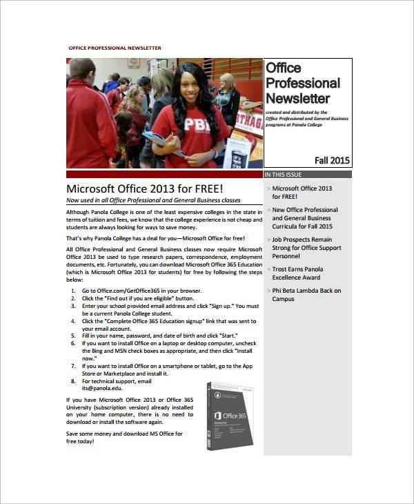 Sample Office Newsletter   7+ Documents In PDF