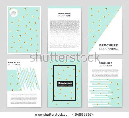 Abstract Vector Layout Background Set Art Stock Vector 664951174 ...