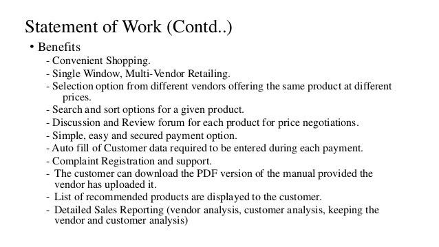 Online shopping portal: Software Project Plan