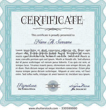 Certificate Template Diploma Template Nice Design Stock Vector ...